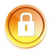 Lock web button — Stock Vector