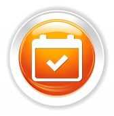 Calendar web icon — Stok Vektör