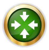 Four arrows pointing button — Stock Vector