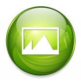иконка интернет фото — Cтоковый вектор
