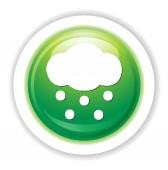 Weather web icon — Stock Vector