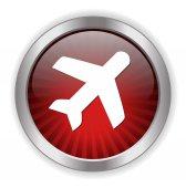 Plane web icon — Stock Vector