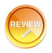 Review Button icon — Stock Vector