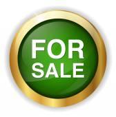 販売ボタン — ストックベクタ