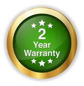 2 year warranty button — Stock Vector