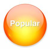 Popular word button — Stock Vector