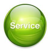 Customer service word icon — Stock Vector