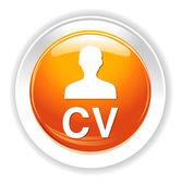 Curriculum vitae button — Stock Vector
