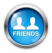 Friends web icon — Stock Vector
