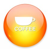 Coffee web icon — Stock Vector