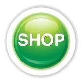 Shopping button icon — Stockvektor