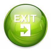Exit web icon — Stock Vector