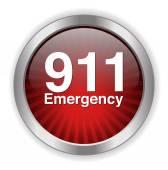 911 emergency button — Stock Vector