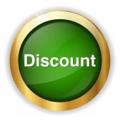 Discount button icon — Stock Vector