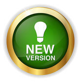 New version button — Stock Vector