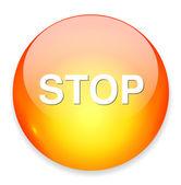 Stop web icon — Stock Vector