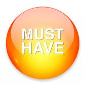 Must have icon — Stock Vector