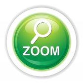 Zoom web icon — Vecteur