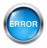 Ikona błędu sieci web — Wektor stockowy
