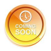 Coming soon button — Stock Vector
