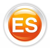 Spanish sign button — Wektor stockowy