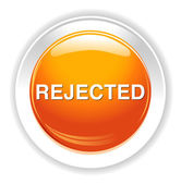 Reject button icon — Stock Vector