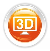 3d display icon — Stock Vector