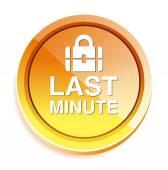 Last-Minute-Symbol — Stockvektor