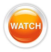 Watch button icon — Stock Vector