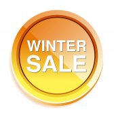 Winter sale icon — Stock Vector