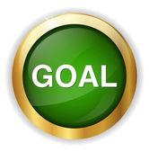 Goal web icon — Stock Vector
