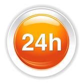 Ikona 24 godziny — Wektor stockowy
