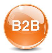 B2b button icon — Stock Vector