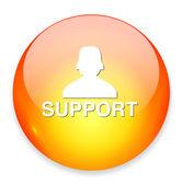 иконка интернет поддержка — Cтоковый вектор
