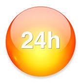 24 hours icon — Stock Vector