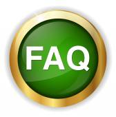 Frequently asked questions icon — Stock Vector