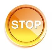 ウェットのアイコンを停止します。 — ストックベクタ