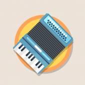 Icon of accordion — Stock Vector