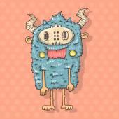 Cartoon monster savage — Vecteur