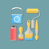 Facilities painter illustration — Stockvektor