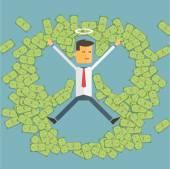 Successful entrepreneur illustration — Stock Vector
