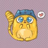 Cute cat illustration — Stock Vector
