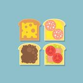 Tasty sandwiches illustration — Stock Vector