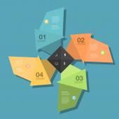Conceptual  Design template — Stock Vector