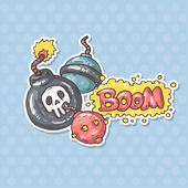 Cartoon bombs illustration — Vetor de Stock
