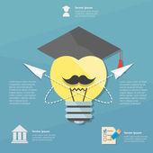 College infographic illustration — Vetor de Stock