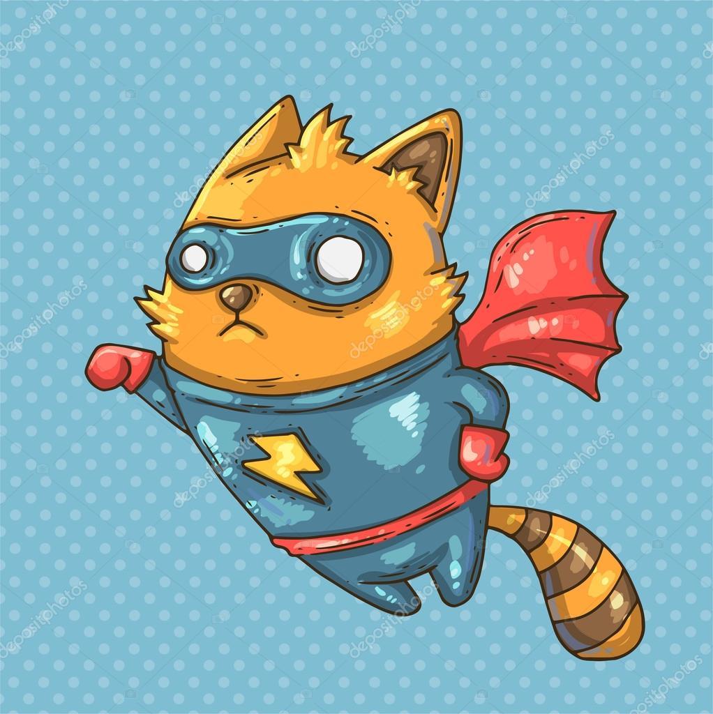 Рисунок супер кошки