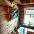 Interior of traditional wooden house — Stock Photo #54218353