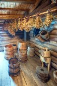 Bathroom items for traditional Russian bath — Stock Photo
