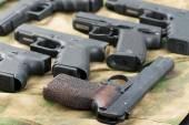 Set of different guns — Stock Photo